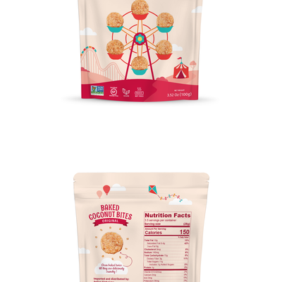Pouch packaging design for coconut product