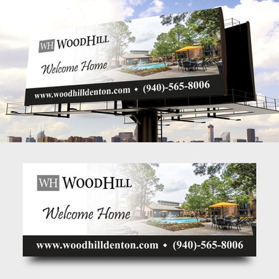 WoodHill Bilboard Design