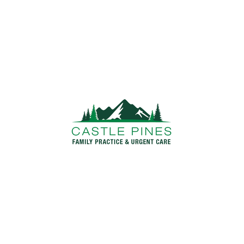 Peak logo with the title 'Castle Pines Family Practice & Urgent Care'