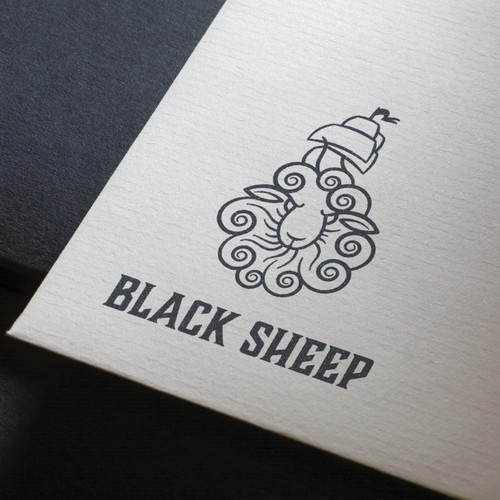 Wave logo with the title 'Black Sheep / logo'