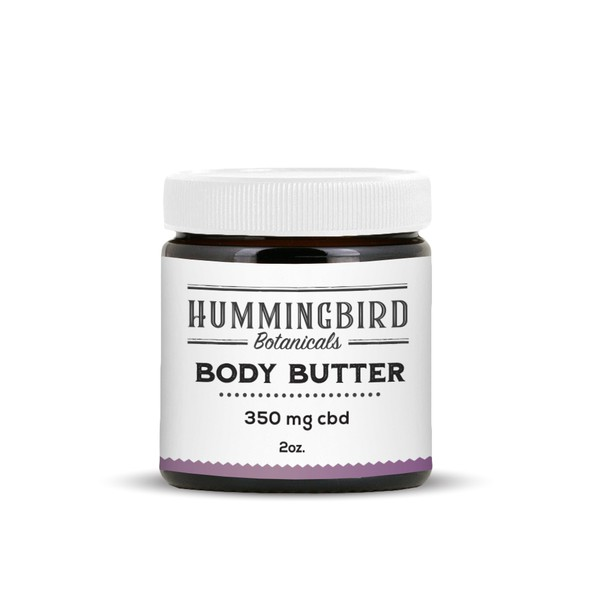 Cream packaging with the title 'Body Butter Mockup'