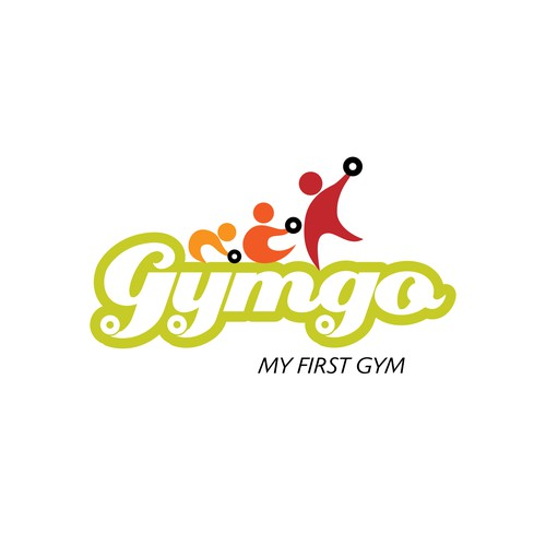 Gymnastics design with the title 'Logo for a kids fitness center'