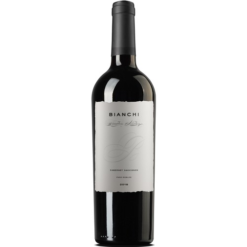 Vineyard label with the title 'Wine Label Bianchi'