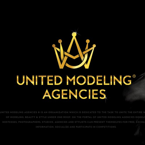 Model design with the title 'Logo design for Modeling Agency UMA'