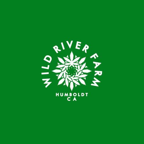 Marijuana brand with the title 'Wild River Farm logo'