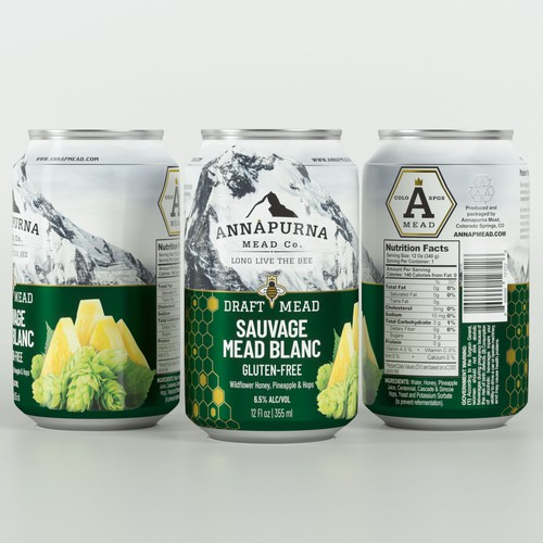 Can packaging with the title 'Annapurna Sauvage Mead Blanc'