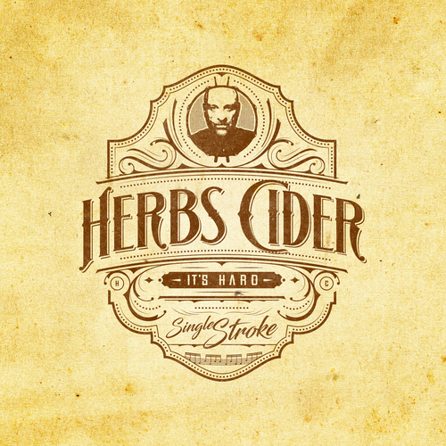 Swirl design with the title 'Herbs Cider'