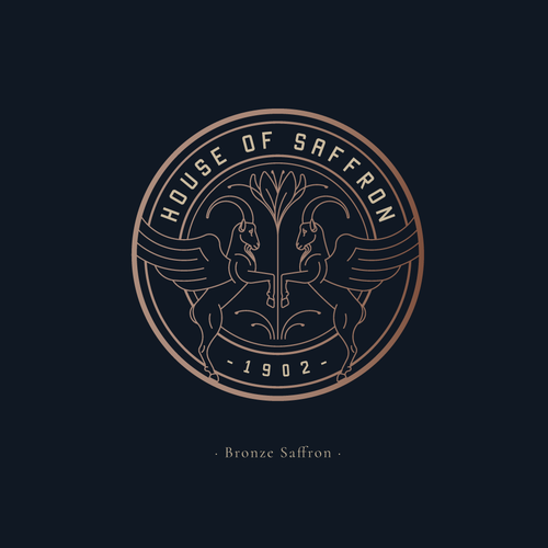 Luxurious logo with the title 'Logo design for House Of Saffron'