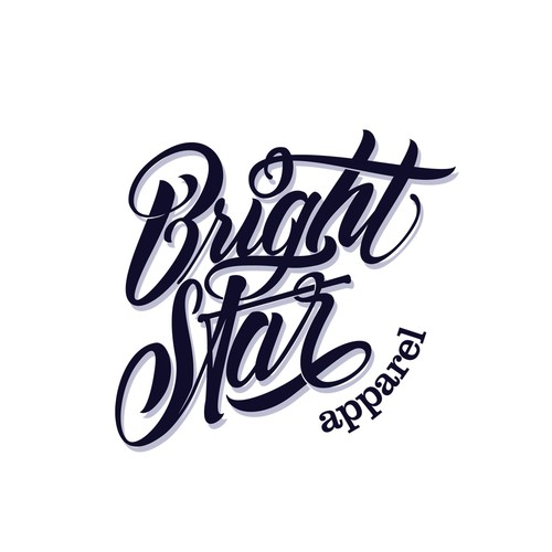 Artwork logo with the title 'bright star'