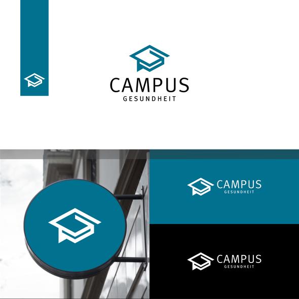 Campus design with the title 'Campus Logo. Campus Gesundheit Logo. Education Logo'