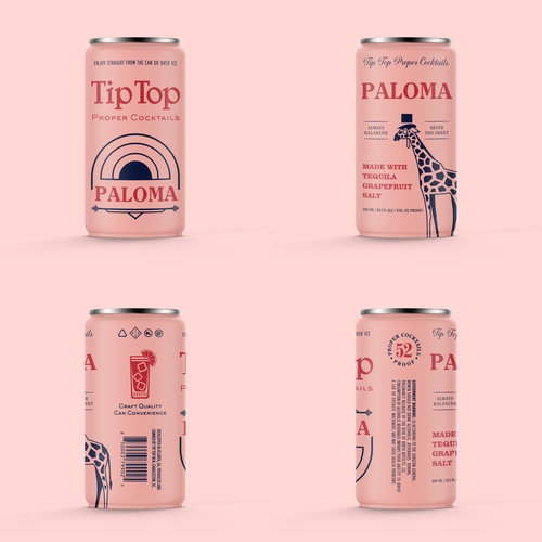 Cocktail packaging with the title 'Cocktail can design'