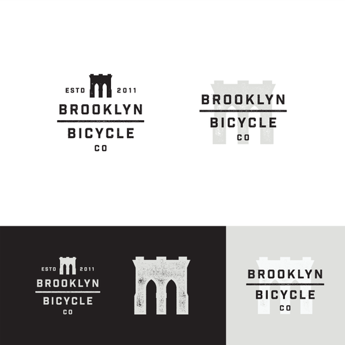 Hipster logo with the title 'Brooklyn Bicycle Co.'