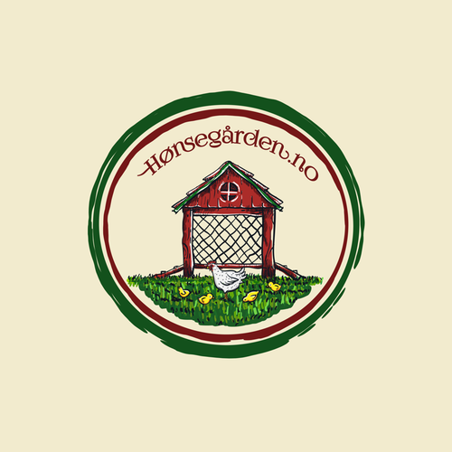 Poultry logo with the title 'Chicken house to have in the backyard'