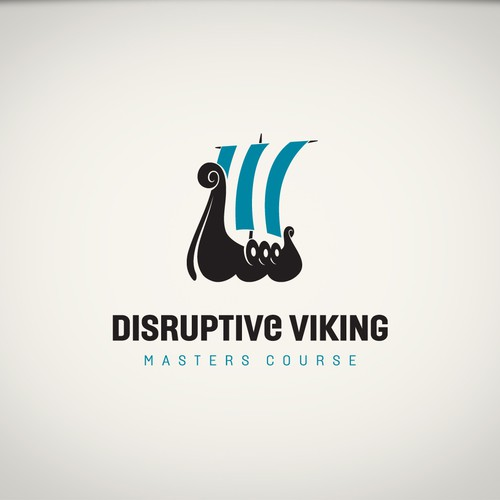 Nordic logo with the title 'Viking ship'