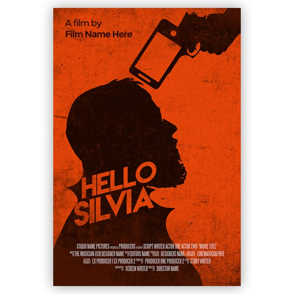 Cell design with the title 'Hello Silvia Poster'