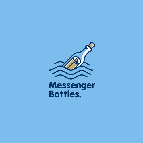 Mail logo with the title 'Messenger Bottles'