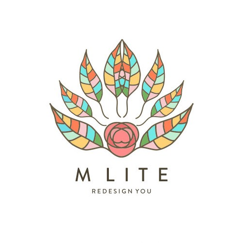 Hand-drawn brand with the title 'Logo concept for M Lite'