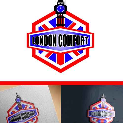 Big Ben design with the title 'London Comfort logo concept '
