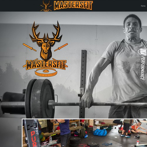 Antler logo with the title 'Crossfit gym Logo concept'