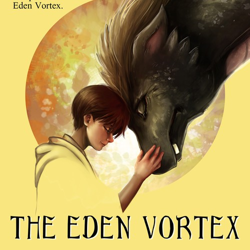 Children's book cover with the title 'the Eden Vortex - book cover'