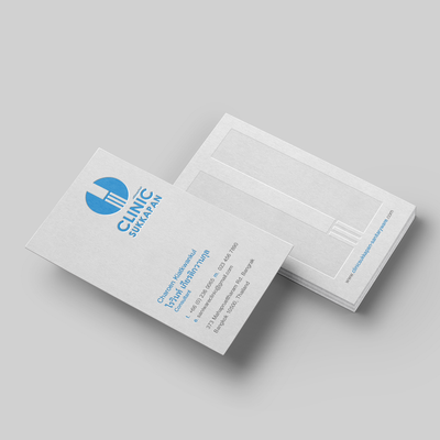 Letterpress Business Cards for ClinicSukkapan