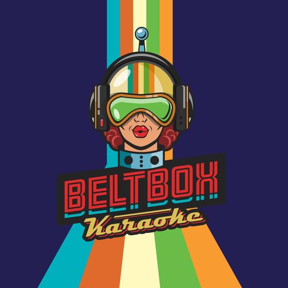 Karaoke design with the title 'Beltbox Karaoke'