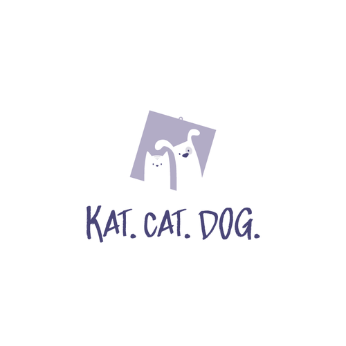 Printing logo with the title 'Cat & Dog Logo'