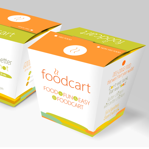 Easy design with the title 'food delivery box design'