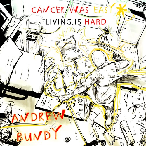 Cancer design with the title 'Surviving the Cure: Cancer was Easy,* Living is Hard'