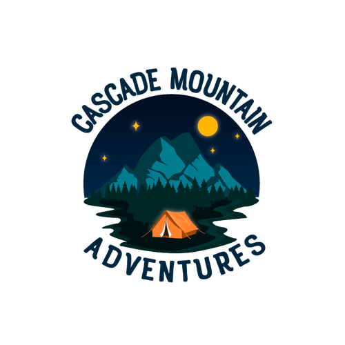 Road trip logo with the title 'Fun Logo design for an outdoor camping enthusiast'