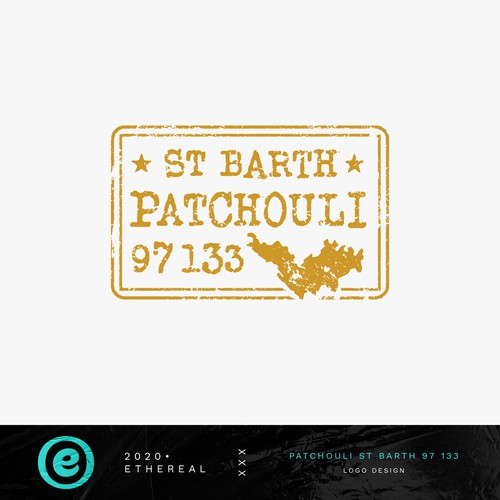 Logo with the title 'Patchouli, St Barth, 97 133'