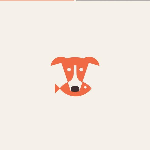 Greyhound logo with the title 'LOGO DESIGN'