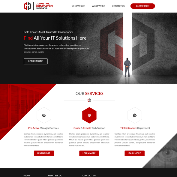 Company website with the title 'Website Redesign For Computer Repair and IT Consulting Service'