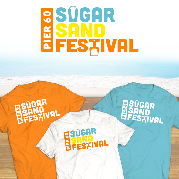 Bucket design with the title 'Sand Festival Logo'
