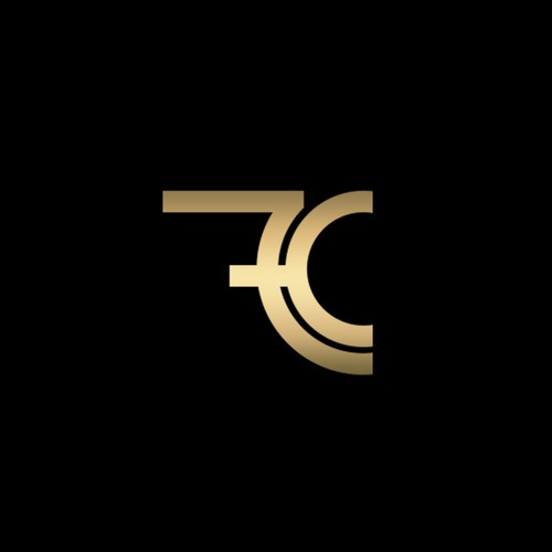 Seven design with the title 'Cryptocurrency Logo C7'