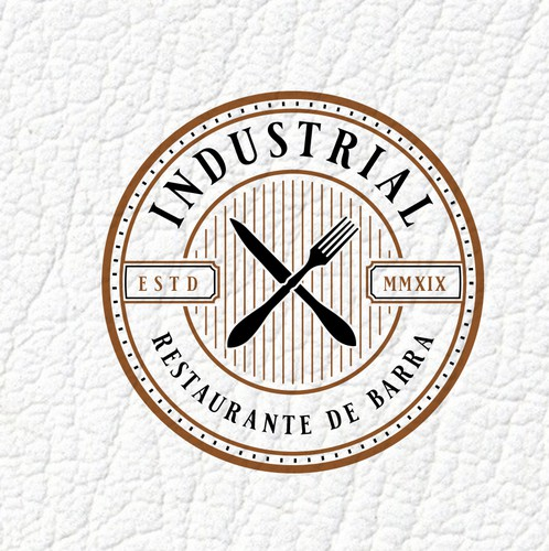 Bar and restaurant logo with the title 'INDUSTRIAL'