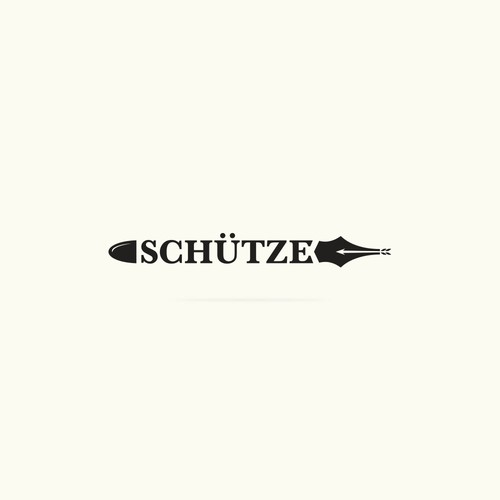 Archery design with the title 'Logo design for Schütze.'
