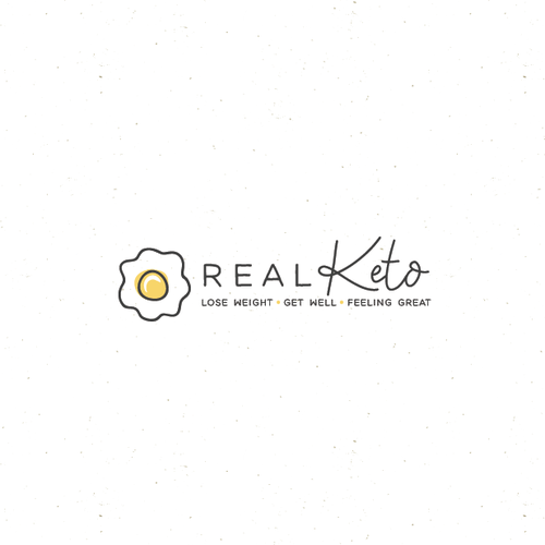 Egg design with the title 'real keto'