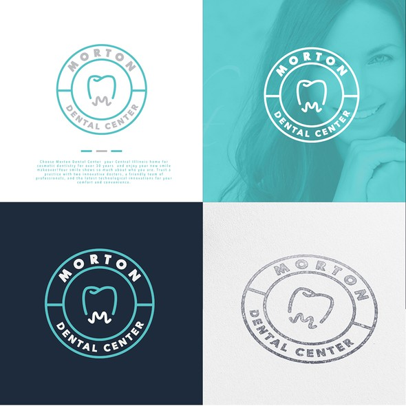 Toothpaste design with the title 'Morton Dental Center'