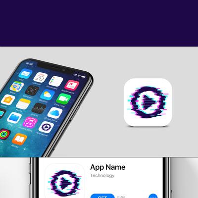 Glitch style app icon