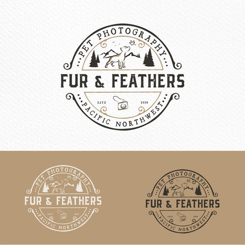 Dog brand with the title 'Logo for a pet photographer'