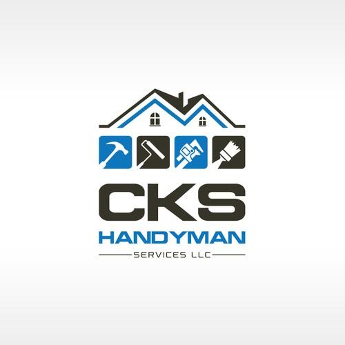 Handyman logo with the title 'CKS Handyman Services Logo'