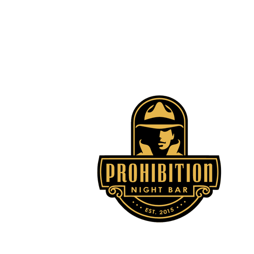 Gangster logo with the title 'Retro Night Club Logo'