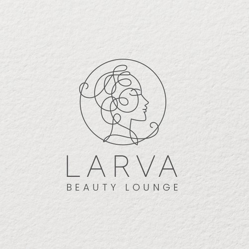 High-end logo with the title 'Larva Beauty Lounge Logo'