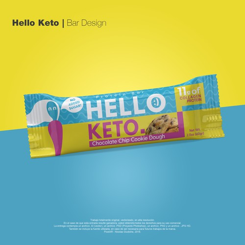 Keto packaging with the title 'Keto Protein Label Contest '