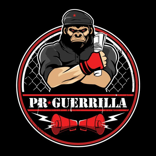 King Kong logo with the title 'PR GUERRILLA'