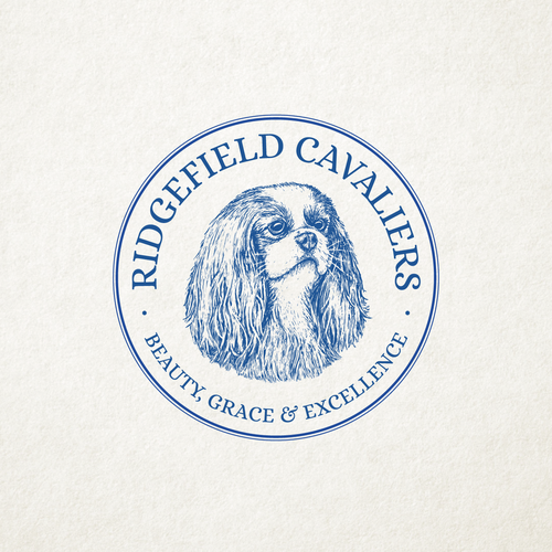 Kennel logo with the title 'RIDGEFIELD CAVALIERS'
