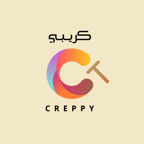 Crepe design with the title 'Modern Crepe logo concept '
