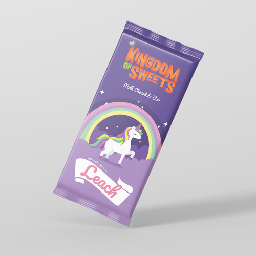 Sweet design with the title 'Chocolate Violet Packaging '