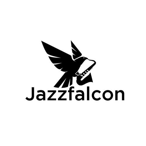 Falcon logo with the title 'Custom Logo Jazzfalcon'